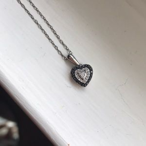 "Jewelry - 18"" Sterling Silver Heart Necklace"